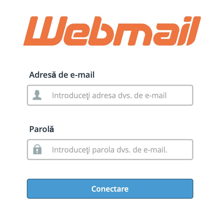 Accesare și configurare Webmail